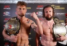 Cage Warriors 106 Results