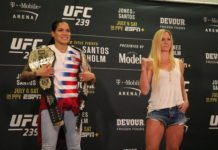 Amanda Nunes and Holly Holm UFC 239 media day