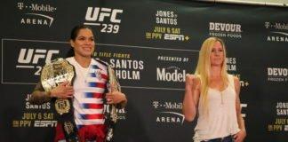 Amanda Nunes and Holly Holm UFC 239 media day