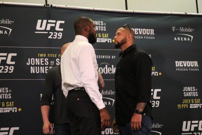 Jon Jones and Thiago Santos UFC 239