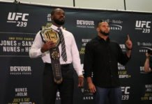 Jon Jones and Thiago Santos UFC
