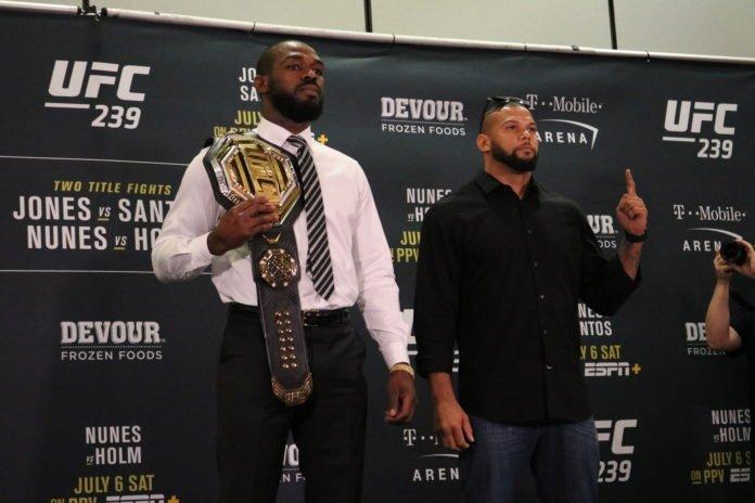 Jon Jones and Thiago Santos UFC