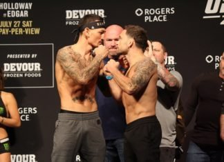 Holloway and Edgar, UFC 240