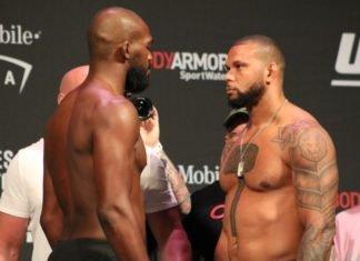 Jon Jones and Thiago Santos face off ahead of UFC 239