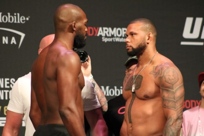 Jon Jones and Thiago Santos face off ahead of UFC 239