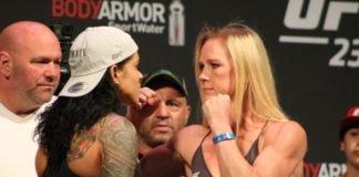 Amanda Nunes and Holly Holm UFC 239