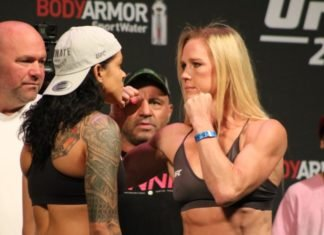 Amanda Nunes and Holly Holm UFC 239