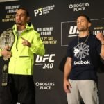 Max Holloway and Frankie Edgar, UFC 240 Media Day