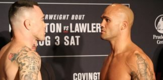 Colby Covington and Robbie Lawler
