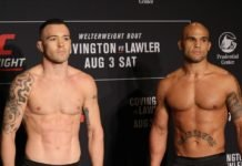 Colby Covington and Robbie Lawler, UFC Newark