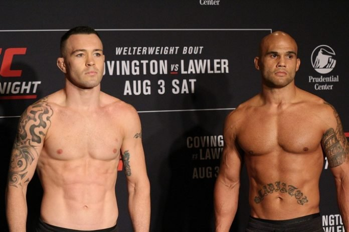 Colby Covington and Robbie Lawler, UFC Newark