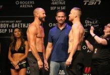 Donald Cerrone and Justin Gaethje, UFC Vancouver
