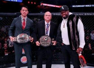 Scott Coker, Bellator (center)