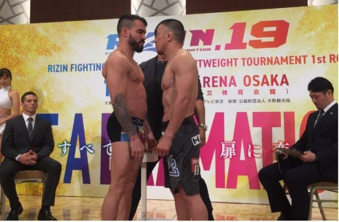 Patricky Pitbull faces off with Tatsuya Kawajiri ahead of RIZIN 19