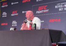 Dana White, UFC President, UFC Boston post-fight press conference
