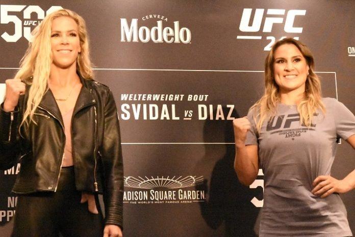 Katlyn Chookagian and Jennifer Maia UFC 244