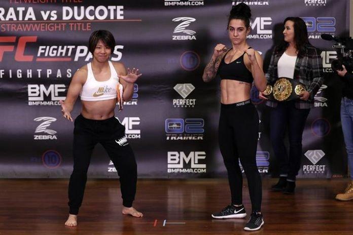 Kanako Murata and Emily Ducote Invicta FC 38