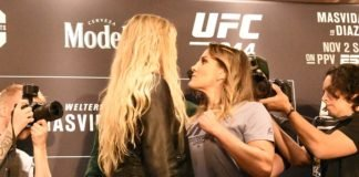 Katlyn Chookagian and Jennifer Maia, UFC 244 Media Day
