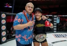 Scott Coker and Ilima-Lei Macfarlane