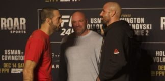 Matt Brown and Ben Saunders, UFC