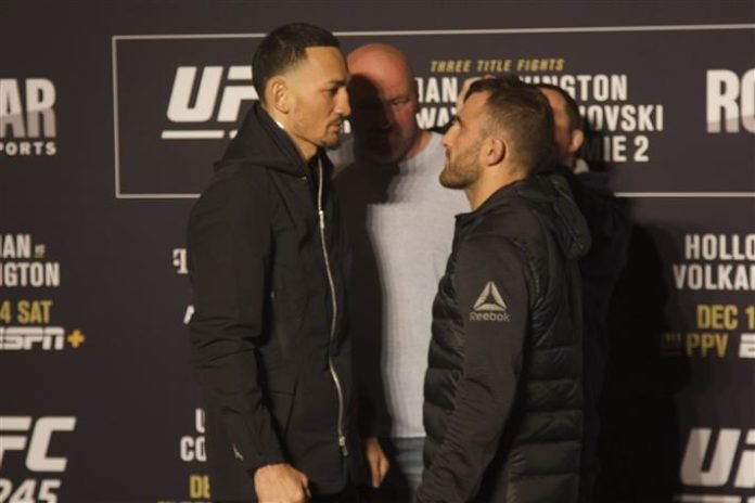 Max Holloway vs. Alexander Volkanovski UFC 245
