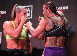 Julia Budd and Cris Cyborg, Bellator 238 Face-Off