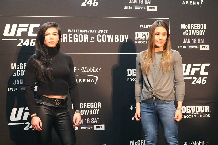 Claudia Gadelha and Alexa Grasso, UFC 246