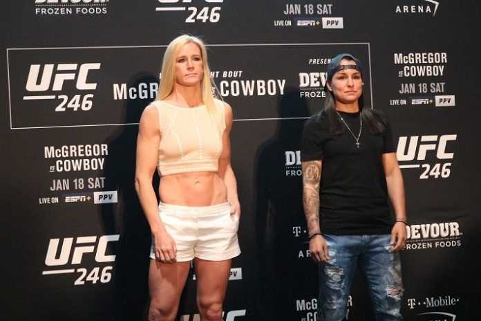 Holly Holm and Raquel Pennington, UFC 246