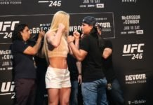 Holly Holm, Raquel Pennington ahead of UFC 246
