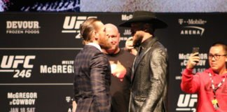 Conor McGregor and Donald Cerrone, UFC 246 press conference