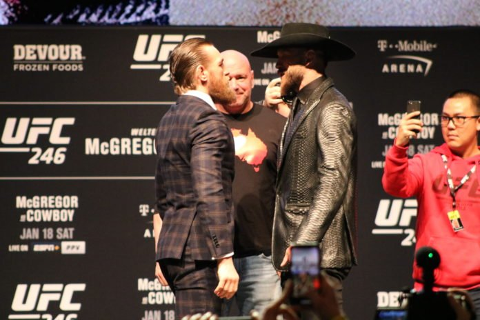 Conor McGregor and Donald Cerrone, UFC 246 press conference