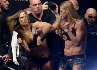 Ronda Rousey and Holly Holm, UFC 193