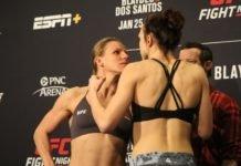 Justine Kish and Lucie Pudilova, UFC
