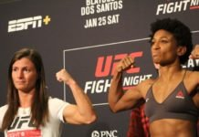 Hannah Cifers and Angela Hill, UFC Raleigh
