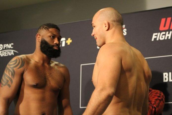 Curtis Blaydes and Junior Dos Santos, UFC Raleigh