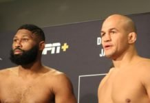 Curtis Blaydes and Junior Dos Santos, UFC Raleigh