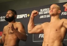 Curtis Blaydes and Junior Dos Santos, UFC Raleigh Face-Off