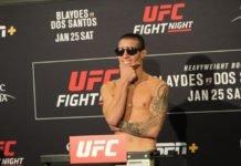 UFC Vegas 25 Luke Sanders Felipe Colares