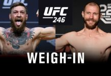 UFC 246 ceremonial weigh-in