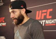 Michael Chiesa UFC Raleigh post-fight