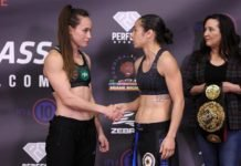 Jinh Yu Frey and Ashley Cummins, Invicta FC 39