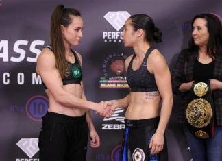 Jinh Yu Frey and Ashley Cummins, Invicta FC 39