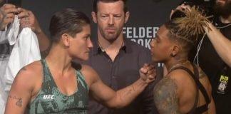 Priscila Cachoeira vs. Shana Dobson UFC Auckland face-off