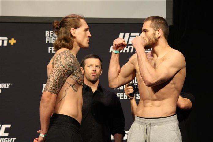 Brendan Allen and Tom Breese, UFC Norfolk