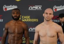 Cage Warriors 113 Darren Stewart and Bartosz Fabinski