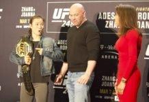 Weili Zhang and Joanna Jedrzejczyk UFC 248