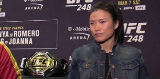 Weili Zhang UFC 248 media day