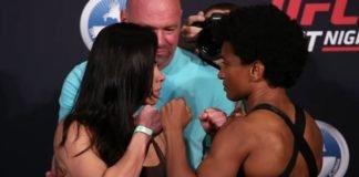 Claudia Gadelha and Angela Hill UFC FL