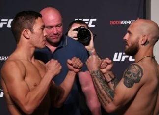 Hunter Azure and Brian Kelleher, UFC Jacksonville