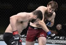 Tanner Boser punches Philipe Lins at UFC on ESPN 12